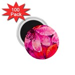 Geometric Magenta Garden 1.75  Magnets (100 pack)  Front