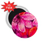 Geometric Magenta Garden 2.25  Magnets (10 pack)  Front