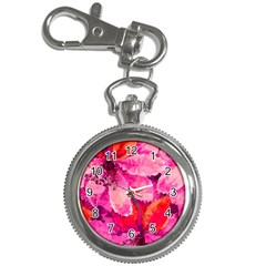 Geometric Magenta Garden Key Chain Watches