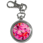 Geometric Magenta Garden Key Chain Watches Front