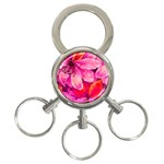 Geometric Magenta Garden 3-Ring Key Chains Front