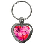 Geometric Magenta Garden Key Chains (Heart)  Front
