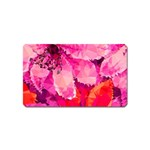 Geometric Magenta Garden Magnet (Name Card) Front