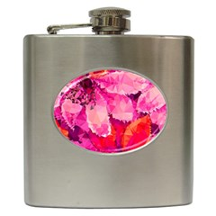 Geometric Magenta Garden Hip Flask (6 Oz)