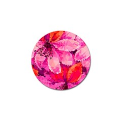Geometric Magenta Garden Golf Ball Marker