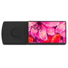 Geometric Magenta Garden USB Flash Drive Rectangular (2 GB)