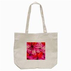 Geometric Magenta Garden Tote Bag (cream)