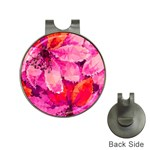 Geometric Magenta Garden Hat Clips with Golf Markers Front