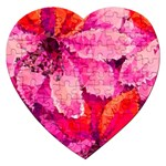 Geometric Magenta Garden Jigsaw Puzzle (Heart) Front