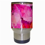 Geometric Magenta Garden Travel Mugs (White) Center