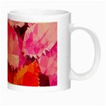 Geometric Magenta Garden Night Luminous Mugs Right