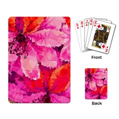 Geometric Magenta Garden Playing Card