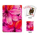 Geometric Magenta Garden Playing Card Back
