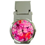 Geometric Magenta Garden Money Clip Watches Front
