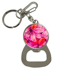 Geometric Magenta Garden Bottle Opener Key Chains