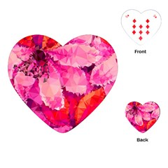 Geometric Magenta Garden Playing Cards (heart)