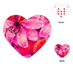 Geometric Magenta Garden Playing Cards (Heart)  Front