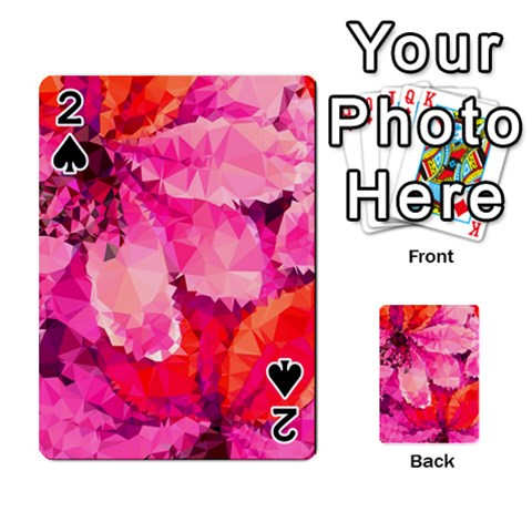 Geometric Magenta Garden Playing Cards 54 Designs
