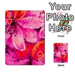 Geometric Magenta Garden Playing Cards 54 Designs  Front - Heart6