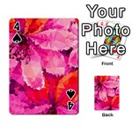 Geometric Magenta Garden Playing Cards 54 Designs  Front - Spade4