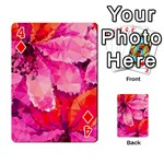 Geometric Magenta Garden Playing Cards 54 Designs  Front - Diamond4