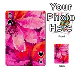 Geometric Magenta Garden Playing Cards 54 Designs  Front - Spade5