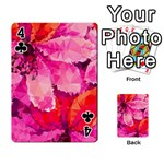 Geometric Magenta Garden Playing Cards 54 Designs  Front - Club4