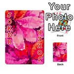 Geometric Magenta Garden Playing Cards 54 Designs  Front - Joker2