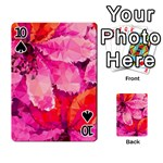 Geometric Magenta Garden Playing Cards 54 Designs  Front - Spade10
