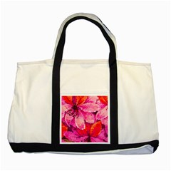 Geometric Magenta Garden Two Tone Tote Bag
