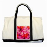 Geometric Magenta Garden Two Tone Tote Bag Front