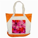 Geometric Magenta Garden Accent Tote Bag Front