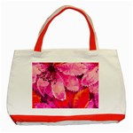 Geometric Magenta Garden Classic Tote Bag (Red) Front