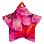 Geometric Magenta Garden Star Ornament (Two Sides)  Back