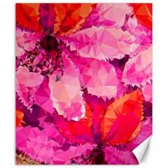 Geometric Magenta Garden Canvas 20  X 24