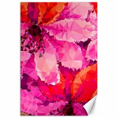 Geometric Magenta Garden Canvas 20  X 30