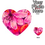 Geometric Magenta Garden Playing Cards 54 (Heart)  Front - Heart9