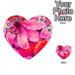 Geometric Magenta Garden Playing Cards 54 (Heart)  Front - Joker1