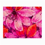 Geometric Magenta Garden Small Glasses Cloth (2-Side) Back