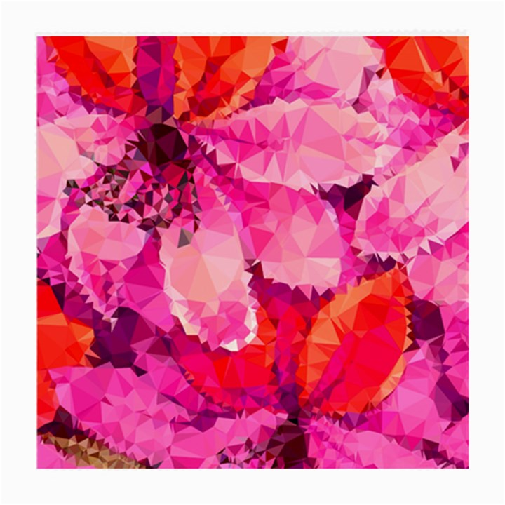 Geometric Magenta Garden Medium Glasses Cloth