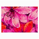 Geometric Magenta Garden Large Glasses Cloth (2-Side) Front
