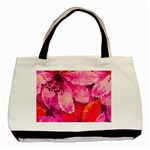 Geometric Magenta Garden Basic Tote Bag (Two Sides) Back
