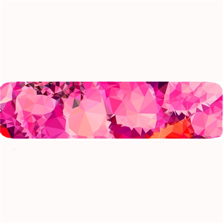 Geometric Magenta Garden Large Bar Mats