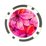 Geometric Magenta Garden Poker Chip Card Guards Back