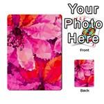 Geometric Magenta Garden Multi-purpose Cards (Rectangle)  Back 26