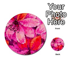 Geometric Magenta Garden Multi Purpose Cards (round)
