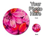 Geometric Magenta Garden Multi-purpose Cards (Round)  Front 37
