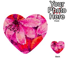 Geometric Magenta Garden Multi Purpose Cards (heart)