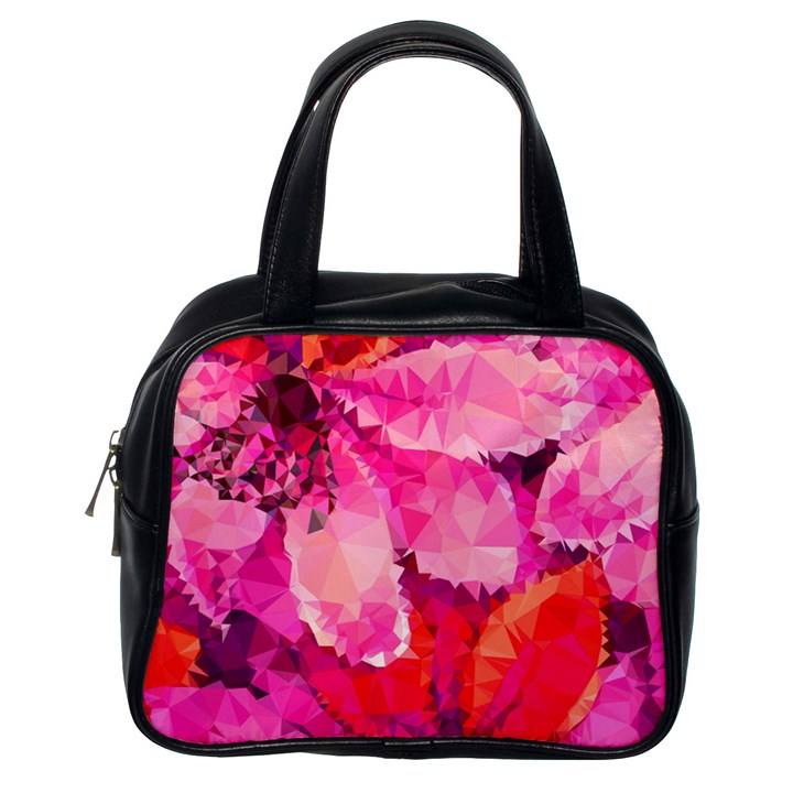 Geometric Magenta Garden Classic Handbags (One Side)