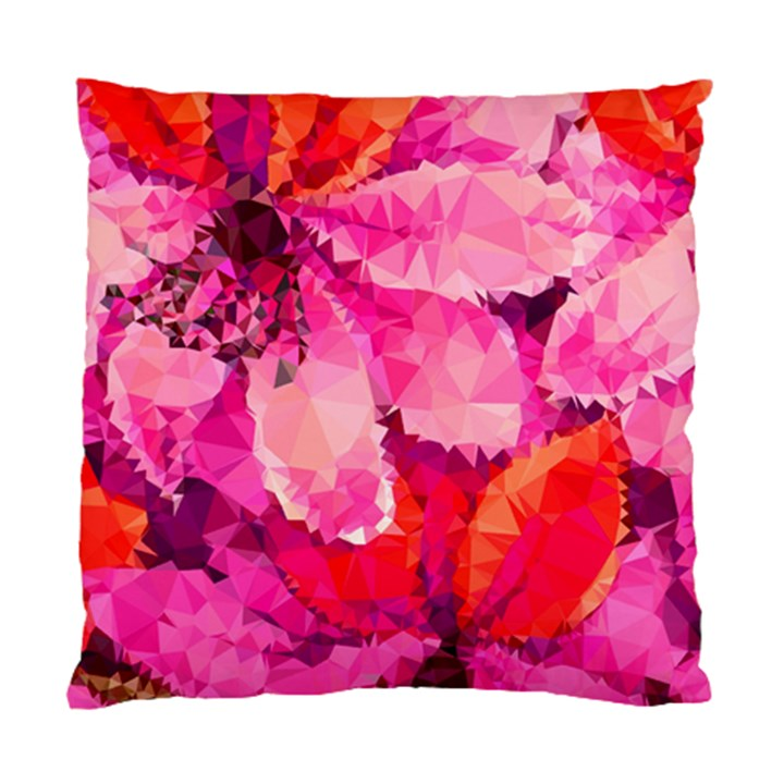 Geometric Magenta Garden Standard Cushion Case (One Side)
